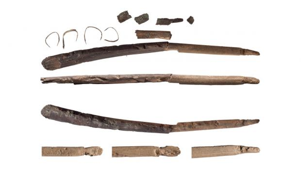 Fragments of bows from the early Stone Age that have melted out of glacial ice..jpg